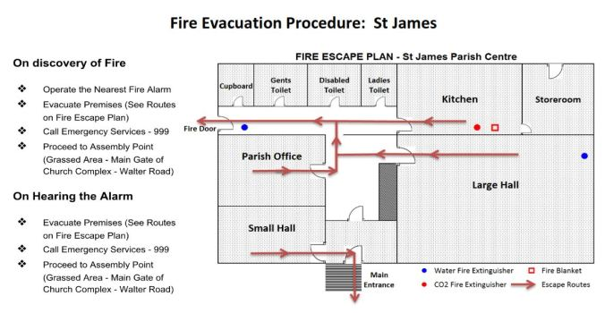 01 - St James fire evacuation plan