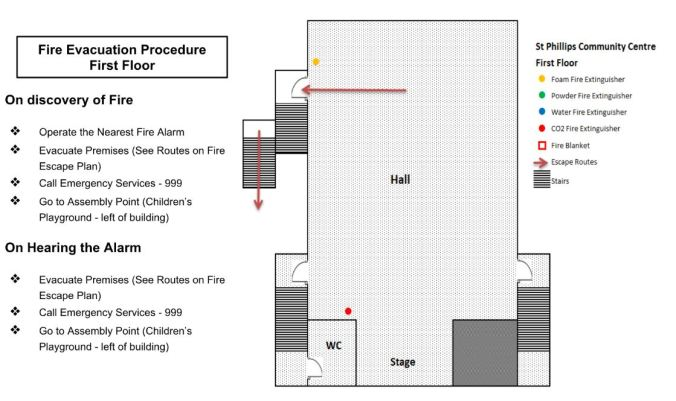 02 - St Phillips - FIRST FLOOR - fire evacuation plan