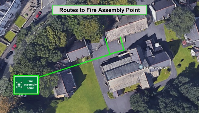 st james new fire assembly point